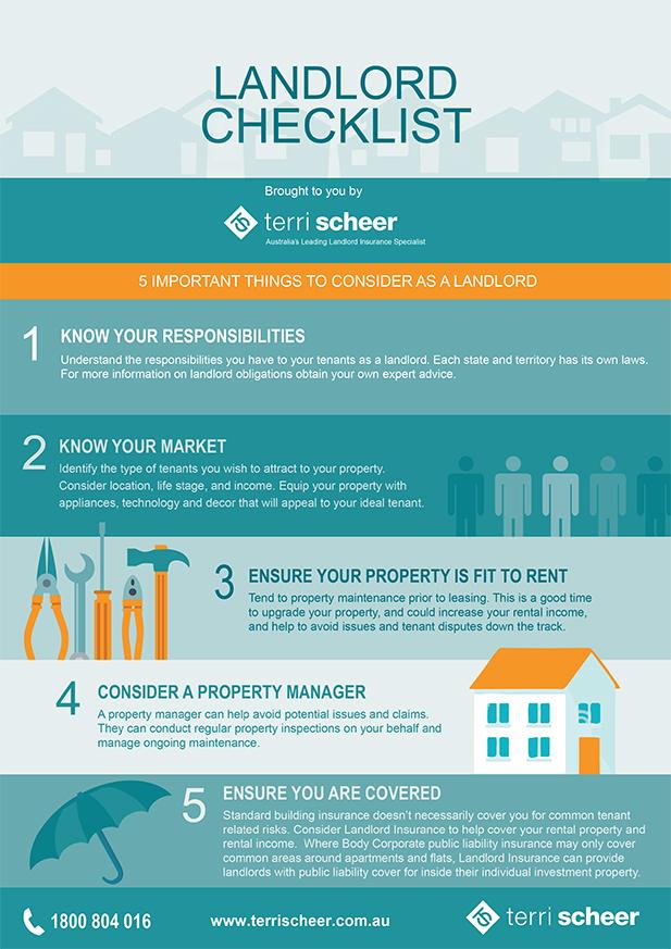 Terri Scheer Landlord checklist infographic